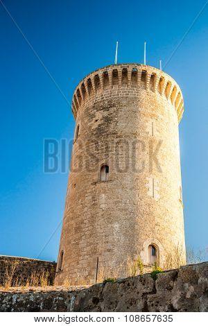 Bellver Castle fortress in Palma-de-Mallorca