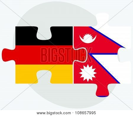 Germany And Nepal Flags