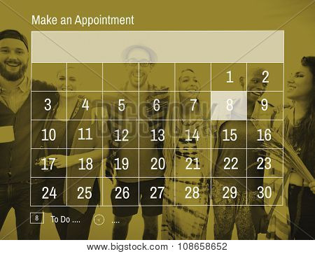 Calender Make Appointment Organization Management Concept