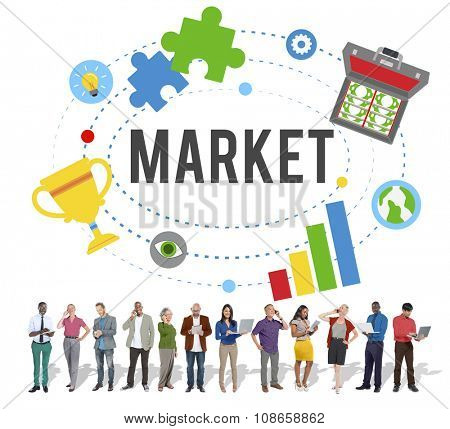 Market Plans Advertising Ideas Global Successs Branding Concept