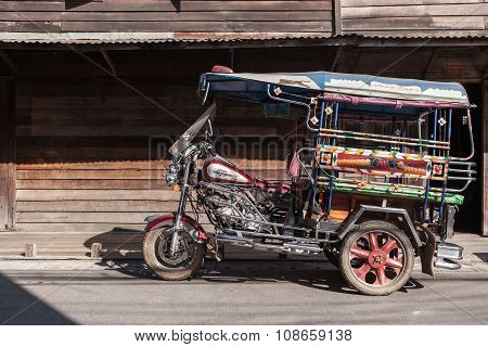 Classical Auto Rickshaw At Chaing Khan, Loei, Thailand.