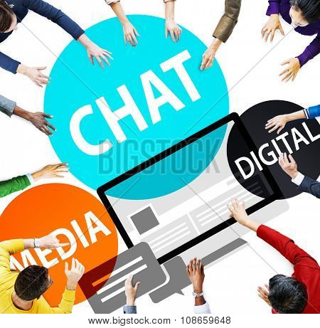 Chat Media Digital Chatting Communication Connect Concept