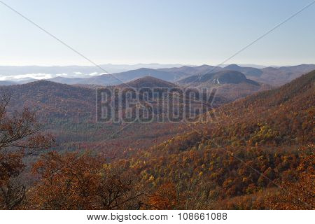Colorful Autumn Mountains Of Western North Carolina