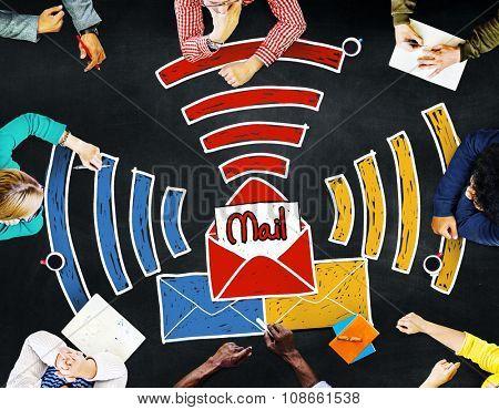 Email Message Inbox Letter Communication Concept