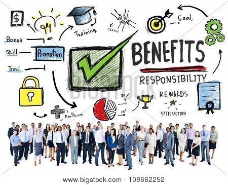 Benefits Gain Profit Earning Income Business Aspiration Concept