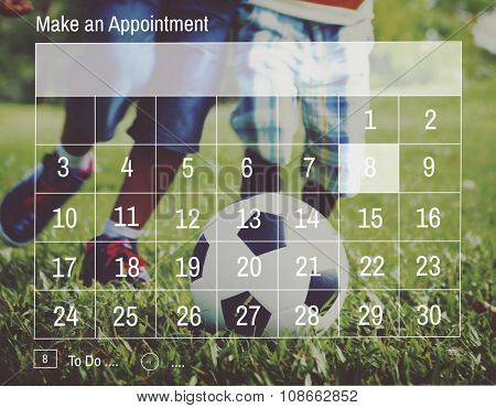 Appointment Calendar Agenda Schedule Planning Concept