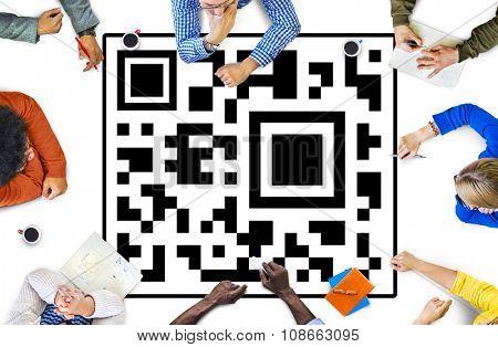Bar Code Industry Qr Code Concept