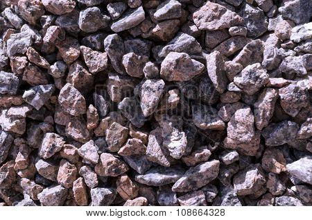 Cold Blue Stones Gravel Texture Macro Background