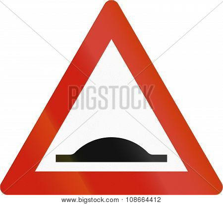 Norwegian Road Warning Sign - Road Bump