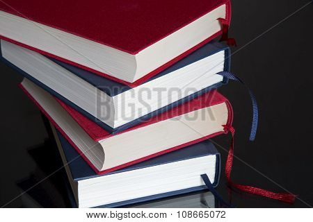 Books On Black Background