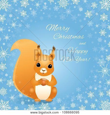 Christmas Squirrel Snowflakes