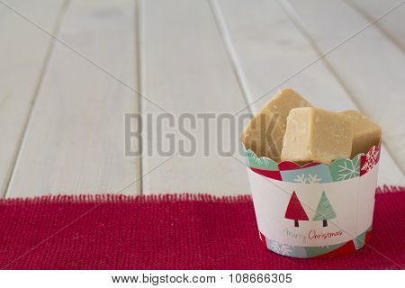 Cup of Caramel Fudge Christmas Gift