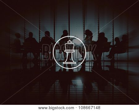 Chess Game Strategy Vision Leader Great King Concept