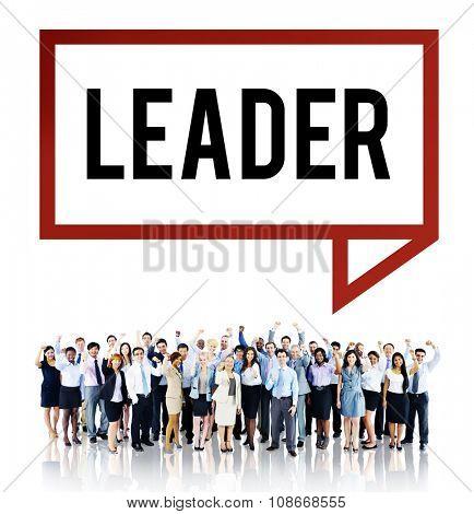 Leader Leadership Management Coaching Concept