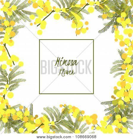 Floral retro vintage background