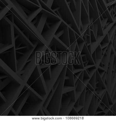 Geometric color abstract polygons, as extruded cells