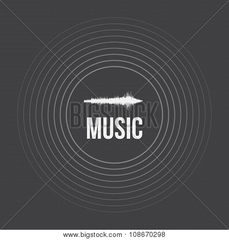 Vector Pulse Music Equalizer Background. Audio Wave Equalizer