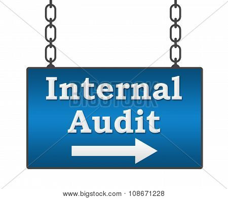 Internal Audit Hanging Signboard