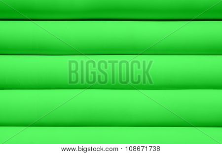 Texture Of Green Inflated Water Mattress
