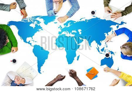 Cartography Communication Global Communication Countries Concept