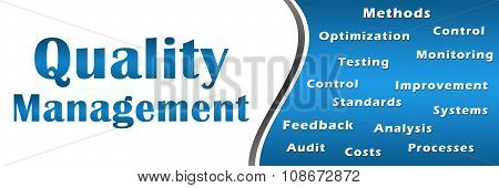 Quality Management Blue Keywords Banner