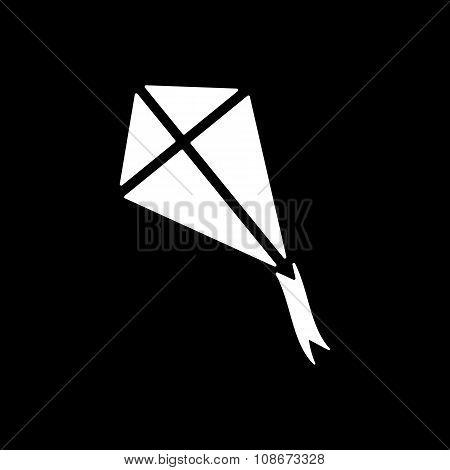 The kite icon. Kite symbol. Flat