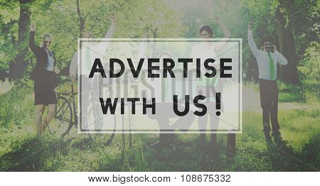 Advertisement Commercial Online Marketing Branding Concept