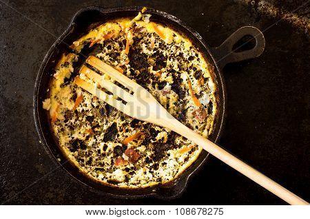Empty Pan Of Omelette