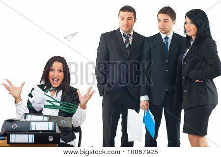 Nervous Tied Businesswoman
