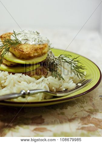 Fritters Of Zucchini With Rice