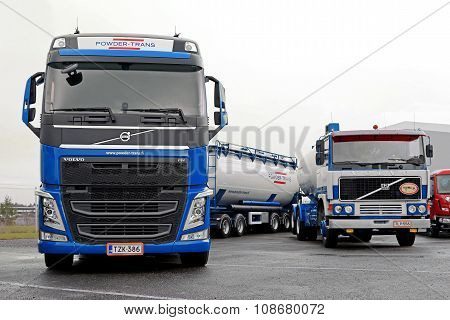 Two Volvo Tank Trucks New And Retro