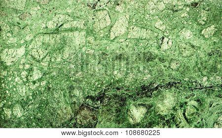 Texture Of Green Marble Slab Macro