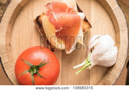 Tapas With Jamon And Cheese