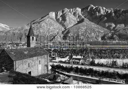 Alpine Church in winter