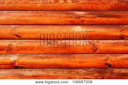 Log House Red Wood Wood Texture