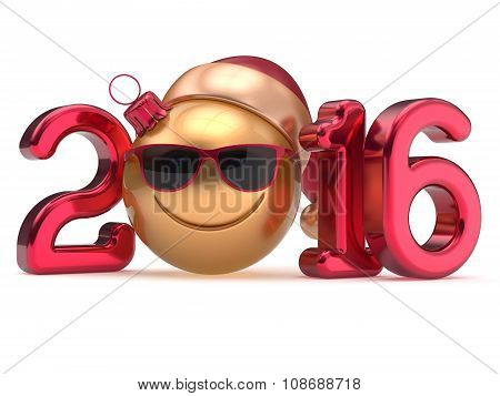 Happy New 2016 Year's Eve Calendar Date Smiley Emoticon