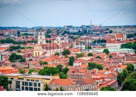 View Over Vilnius, Capital Of Lithuania, Hdr Photo