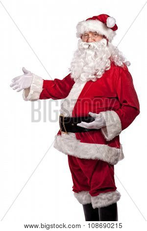 santa claus classic portrait isolated on white background