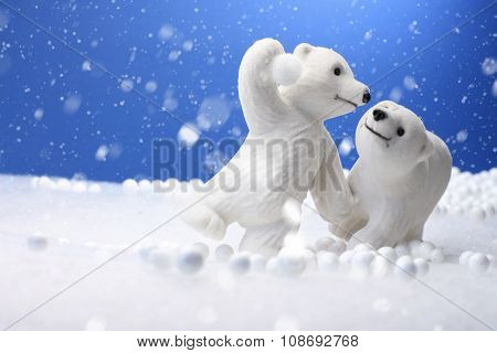 Cute Polar Bear toys