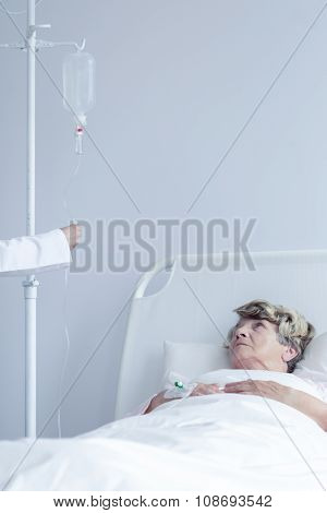 Patient With Intravenous Drip