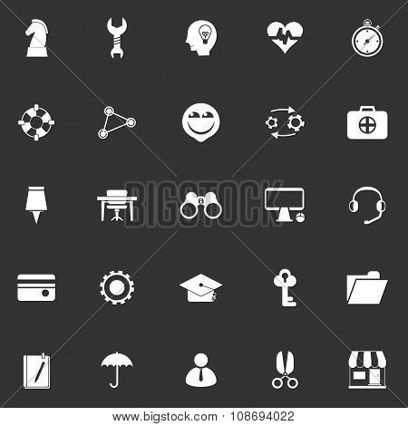 Human Resource Icons On Grey Background