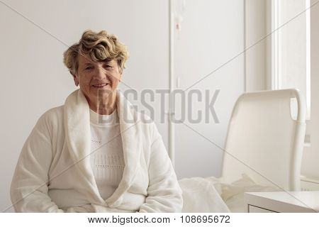 Portrait Of Smiling Senior Patient