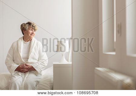 Elderly Female Hospital Patient