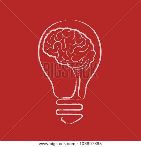 Idea Bulb, Human Brain, Business Idea, Creativity, Creative Idea, Innovation or Uniqueness