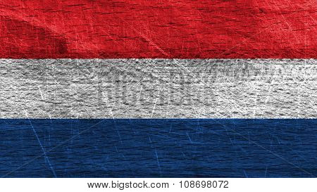 Flag of the Netherlands, Dutch Flag painted on wood