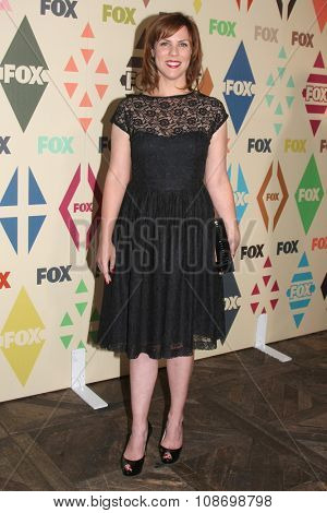 LOS ANGELES - AUG 6:  Sarah Burns at the FOX TCA Summer 2015 All-Star Party at the Soho House on August 6, 2015 in West Hollywood, CA