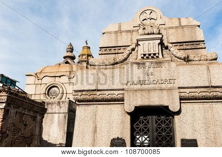 Mausoleum At Cementerio De La Recoleta Buenos Aires, Argentina
