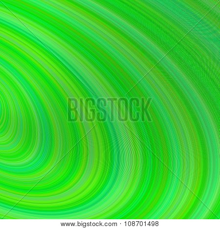 Green abstract curved background