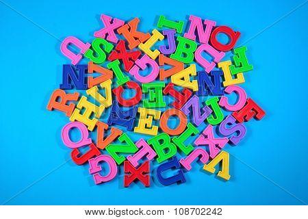 Heap Of Plastic Colored Alphabet Letters