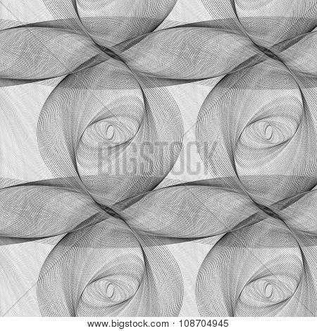 Repeating monochrome ellipse fractal pattern